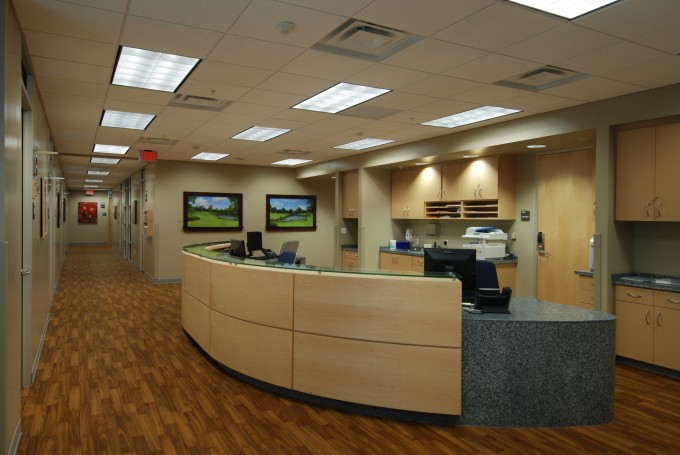 A view of the UFCMDNR clinic space from the nurses' station