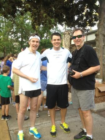 Jim and Jim with Mike of Gainesville Running and Walking