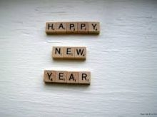 Happy New Years Scrabble Tiles