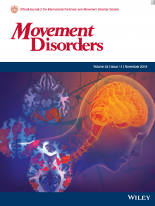 Movement Disorders Cover with brain art