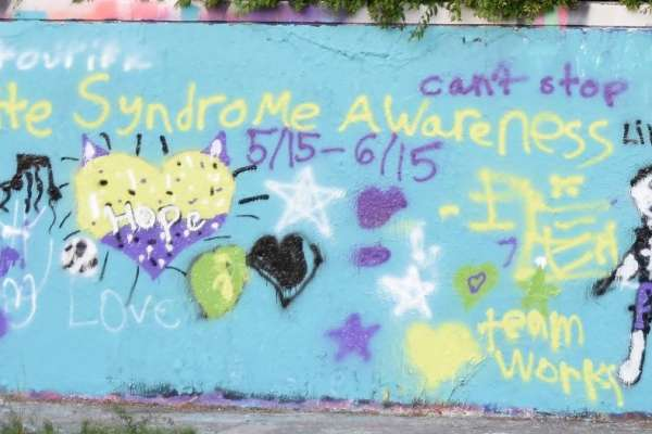 Tourette awareness wall 2019