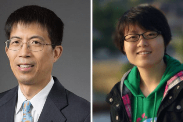 Photos of Dr. Yuqing Li and Dr. Yuning Liu