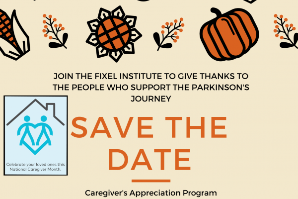 Flyer graphic for the Caregiver Appreciation program. The same information is in this blog post.