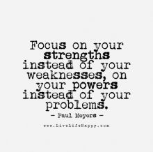focus on strength quote