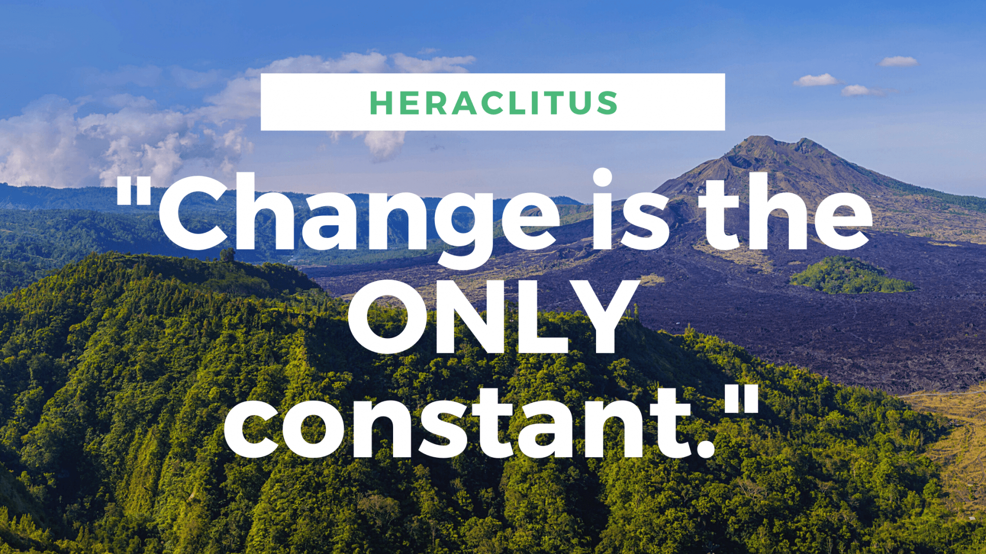 change is the only constan